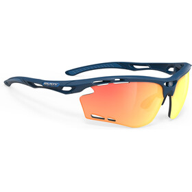Rudy Project Propulse Okulary, blue navy matte/multilaser orange